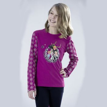 HKM Kinder Shirt Olafs-Frozen-Adventure, dunkelpink