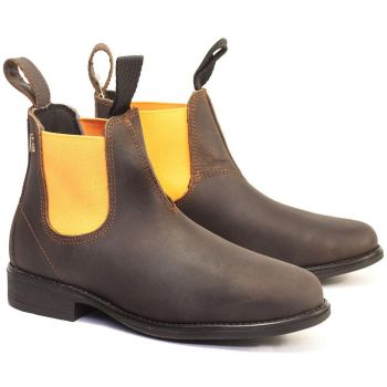 Hobo Kinder Jodhpurstiefeletten AUSSIE, waxy brown-orange...