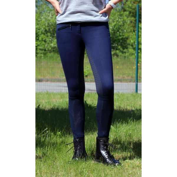 Manski Kinder Reithose LOTTA Grip midnight navy/darknavy 146